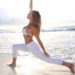 Brittney Rose Yoga Beach Pose 2
