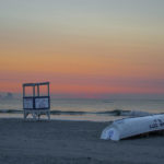 Shabby Chic Ocean City Sunset lifeguard stand